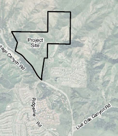 Saddle Crest Location Map